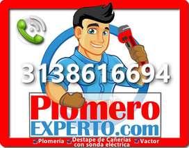 PLOMEROS BOGOTÁ - DESTAPE DE CAÑERÍAS - VACTOR 3138616694