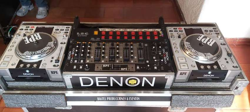 DENON DNS3500 DJ MESA REPRODUCTOR DE CD Y MP3/ MESCLADOR DENON DN-X900 19-INCH PROFESIONAL DE MONTAJE EN RACK UNIDAD ANA