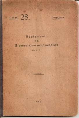Libro Reglamento De Signos Convencionales 1926 Ejercito Arg.