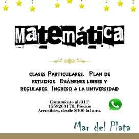 Clases Particulares de Matemática.