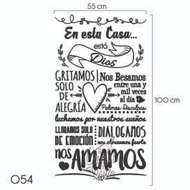 Frases Decorativas en Vinilo Adhesivo