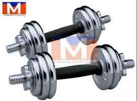 Set Mancuerna Mancuernas Pesas Ajustable  20kg Gym Disco