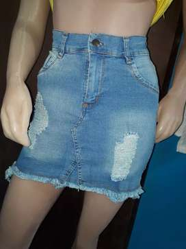polleras de jeans n34.6.8