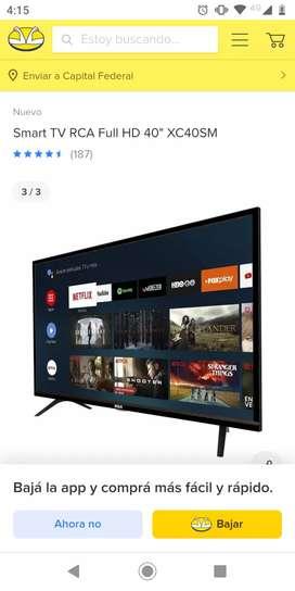 Vendo Smart TV RCA con pantalla quebrada para repuesto