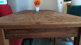 Mesa comedor pino 150 x 080 con cajon