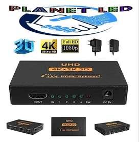 Hdmi Splitter 1x4 Uhd Full Hd 3d 4kx2k Multiplicador