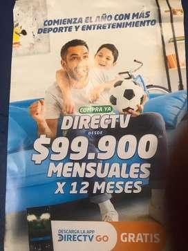 Vendo directv internet mas tv mas directv Go