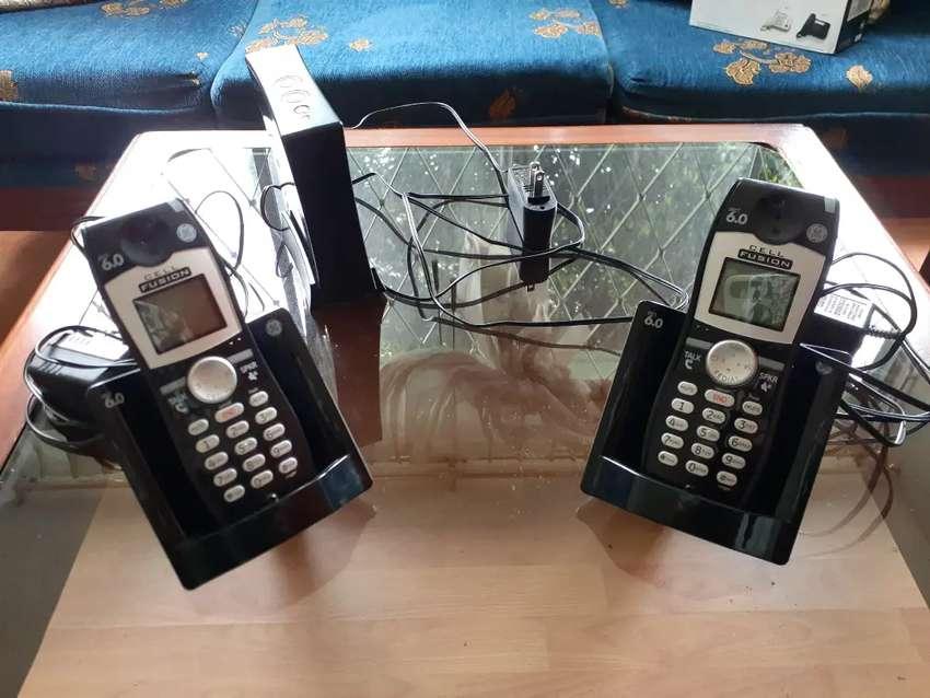 Teléfonos Inalámbricos General Electric Con Base Thomson Inc. En Perfecto Estado Baterías Nuevas