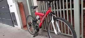 Vendo bicicleta poco uso como nueva