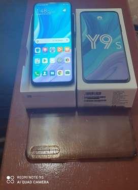 """Huawei Y9s 2020 + funda + mica de vidrio y caja, pantalla 6.59"""", 128 GB ROM, 6 GB RAM, 3 cámaras traseras"""