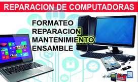 REPARACION Y FORMATEO DE COMPUTADORAS