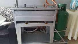 Freidor Doble a Gas + Pipa de Gas de 40Lb