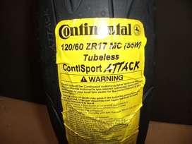 Cubierta 120-60-17 Continental ContisportAttack OKM.