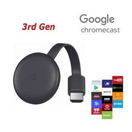 Convertidor a Smart Tv Chromecast 3 Original Google Caja Sellada Garantía