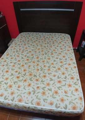sommier colchón  base  respaldo 2 plazas 190x140