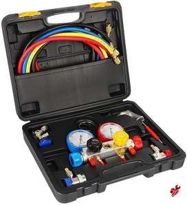 Manómetro Hvag 4 Vías Refrigeración R410a R404a R134a