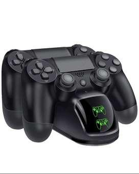 BEBONCOOL PS4 Estación de doble carga para controlador de Sony PlayStation 4