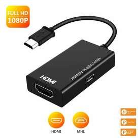 CONVERSOR Micro USB 2,0 MHL a HDMI Cable HD 1080P  Android HDMI convertidor Micro USB 5 pines A HDMI