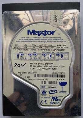 ASC USADO Disco duro IDE Maxtor 20 GB BUEN ESTADO