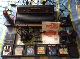 Atari 2600: Consola 4 controles Juegos SIN PROBAR