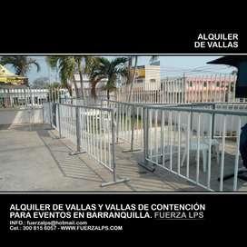 ALQUILER DE VALLAS DE PARA LA ORGANIZACIÓN DE SUS EVENTOS