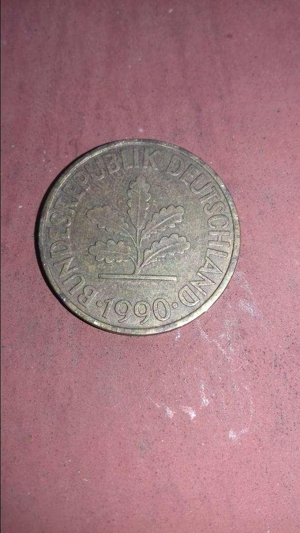 Moneda de 10 pfennig 1990. Alemania 0
