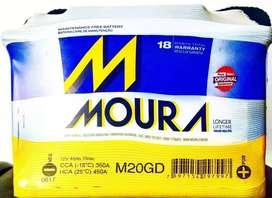 Bateria MOURA 12x65 M20GD nueva garantia quilmes envios flete vw fiat chevrolet ford citroen peugeot
