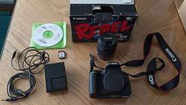 CAMARA FOTOGRAFICA CANON  EOS REBEL T6I EF-S 18-55 IS STM