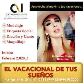 Vacacional de Modelaje,Maquillaje,dicción y etiqueta