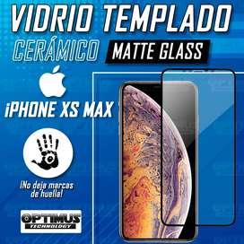 Vidrio Cristal Templado Protector De Pantalla Cerámico MatteGlass celular smartphone iPhone XS MAX Antihuella flexible