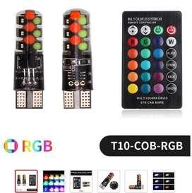 Focos T10 Rgb Con Control Remoto