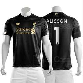 Camiseta Original Liverpool inglaterra 19-20 Alisson Becker Arquero 2019 2020 futbol