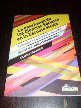 LA ENSEÑANZA DE LAS CIENCIAS SOCIALES EN LA ESCUELA MEDIA . SANJURJO ESPAÑA FORESI . LIBRO HOMOSAPIENS 2019