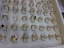 Hermosos anillos para Dama en plata oro garantizada ley 925