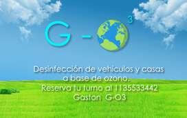 Desinfección de vehículos y casas a base de ozono