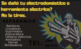 Reparamos artefactos eléctricos