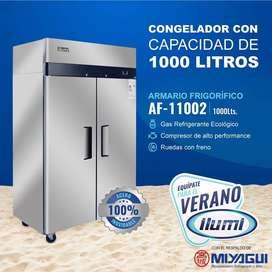 Armario frigorifico AF-11002 de 1000Lts. NUEVO cámara vertical congeladora freezer industrial