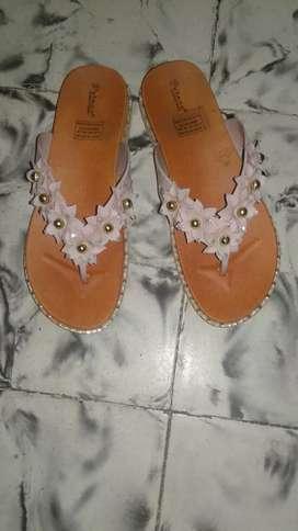 Sandalias color palo de rosa