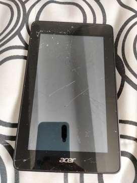 Vendo tablet Acer tiene el display roto, funciona perfecto