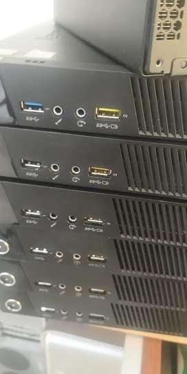 Torres mini Lenovo  Intel celeron 4gb ram disco de 500gb garantia