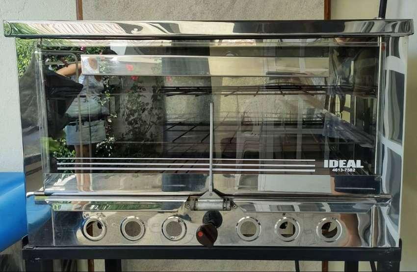 Horno pizzero de acero inoxidable con ladrillos refractarios y luz