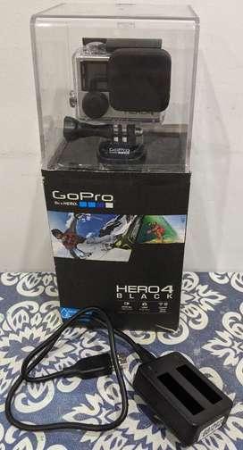 Gopro 4 Hero Black+3 Baterias+cargador+ Accesorios, Sin Uso