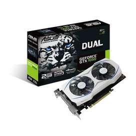 Tarjeta Gráfica ASUS GeForce GTX1050 Dual 2GB GDDR5 2 Ventiladores (usada)