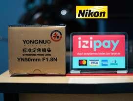 Yongnuo Nikon 50mm f1.8 Retrato AF Nuevo sellado Lente Objetivo Lentes