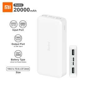 Cargador de celularXiaomi Redmi Power Bank 20000mAh 18W Carga Rápida Bateria externa recargable