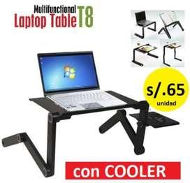 MESA TABLE LAPTOP T8 con cooler y posa mouse