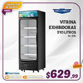 Nevera Vitrina Exhibidora Ecasa 310 Litros SC-310