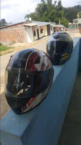 Vendo 2 cascos moto