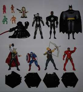 Figuras muñecos lote juguetes Star Wars Batman Marvel Dragon Ball