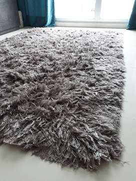 Alfombra tapete color gris